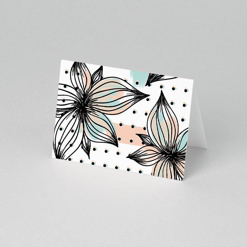 Tischkarten Hochzeit - Floral und Aquarell  Carteland.de