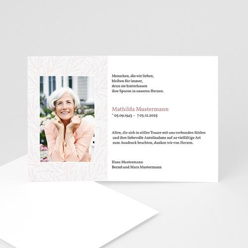 Trauer Danksagung weltlich - Rosenblätter  5211