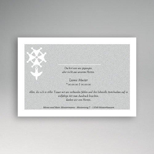 Trauer Danksagung christlich - Hugenottenkreuz 2 5215