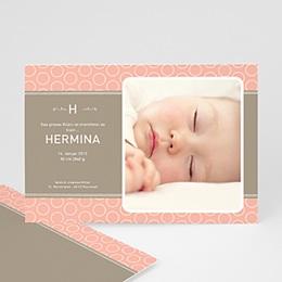 Geburtskarten für Mädchen - babykarte Hermina - 1