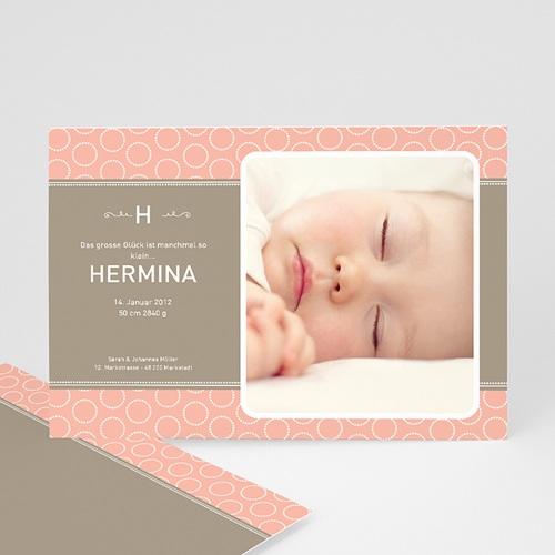 Geburtskarten für Mädchen - Geburtskarte Hella 523