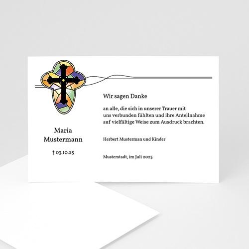 Trauer Danksagung christlich - Kirchenfenster 5247