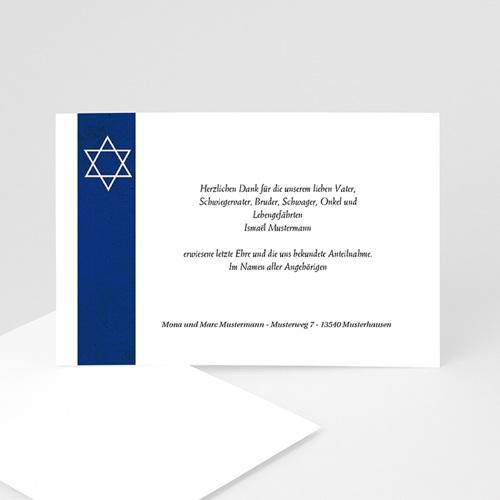 Trauer Danksagung israelitisch - Jüdisches Glaubensbekenntnis 5259