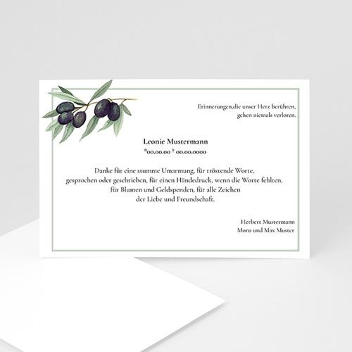 Trauer Danksagung weltlich - Olivenzweig 5311
