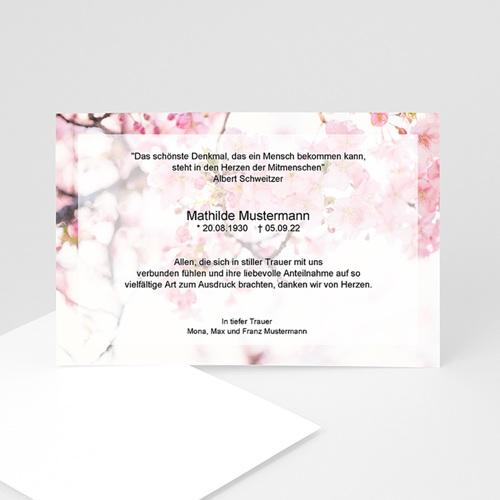 Trauer Danksagung weltlich - Blumen 5319