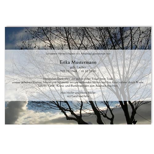 Trauer Danksagung weltlich - Ewiges Leben 5323