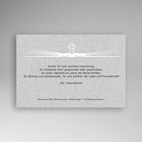 Trauer Danksagung christlich - Die Hoffnung des Lichtes 5327