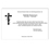 Trauer Danksagung christlich - Blumengeschmücktes Kreuz 5335 thumb