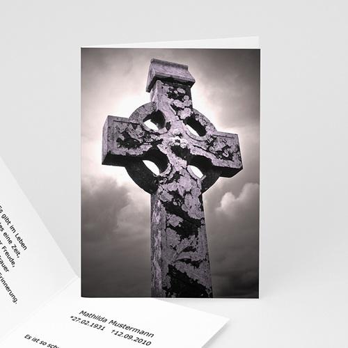 Trauer Danksagung christlich - Trauerkarte 16 5355