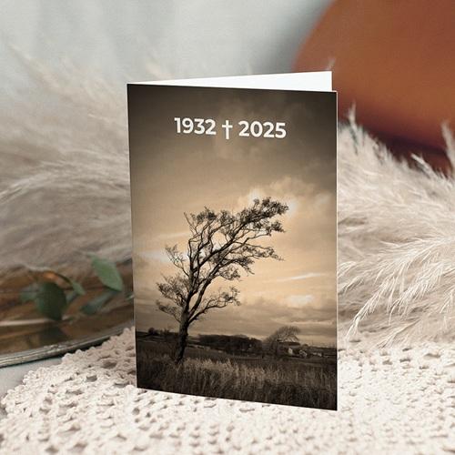 Trauer Danksagung weltlich - Trauerkarte 15 5359