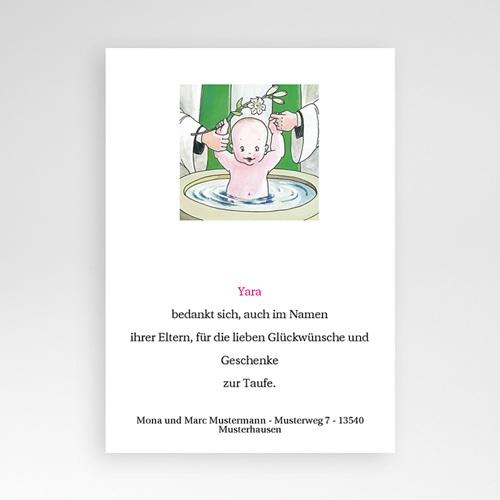 Dankeskarten Taufe Jungen - Danksagung Taufbecken 5411