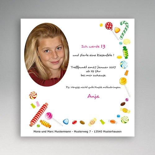 Geburtstagseinladungen Jungen - Einladung Bunte Bonbons 5443