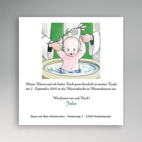 Einladungskarten Taufe Mädchen - Heiliges Wasser 5451