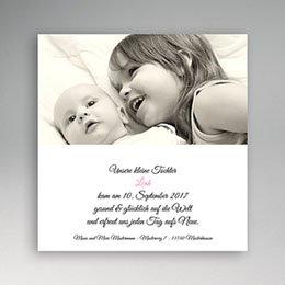 Geburtskarten für Mädchen - Fotokarte klassisch - 1