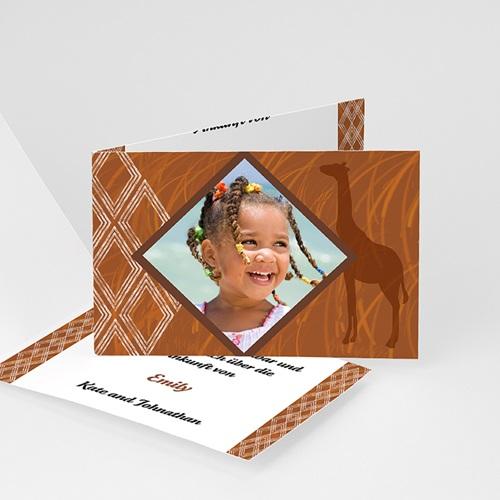 Geburtskarten für Mädchen - Geburtskarte Ebenholz 5475