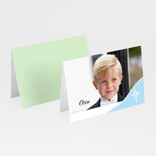 Tischkarten Kommunion - Tischkarte hellblau 5631