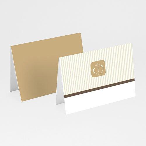 Tischkarten Kommunion - Tischkarte Braun 1 5643