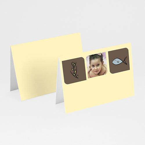 Tischkarten Kommunion - Tischkarte Fisch & Co 5651