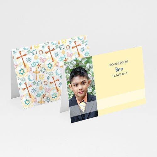 Tischkarten Kommunion - Tischkarte Transparent  5659