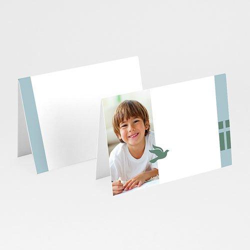 Tischkarten Kommunion - Tischkarte grün-blau 5723