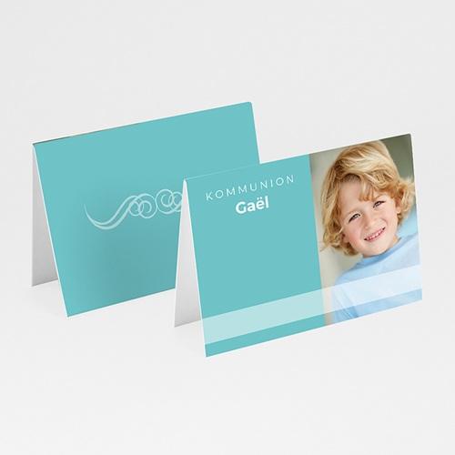 Tischkarten Kommunion - Tischkarte blau 5747