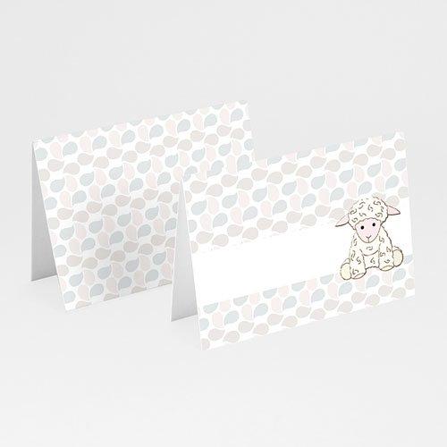 Tischkarten Taufe - Tischkarte Schäfchen 5819