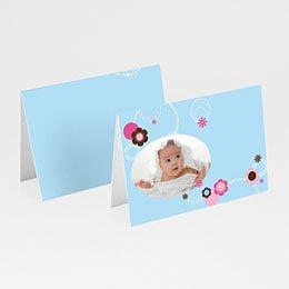 Tischkarten Taufe - Taufkarte Viola - 1