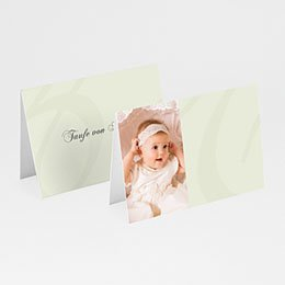 Tischkarten Taufe - Taufkarte beige - 1