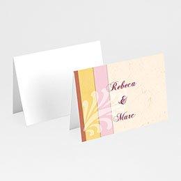 Tischkarten Hochzeit personalisiert - Modernes Design - 1