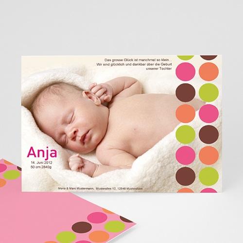 Geburtskarten selbst gestalten  - Geburtskarte Kreis 611