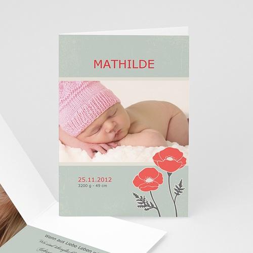 Geburtskarten für Mädchen - Kleine Blume 655