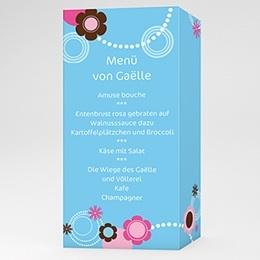 Menükarten Taufe - Taufkarte Viola - 1