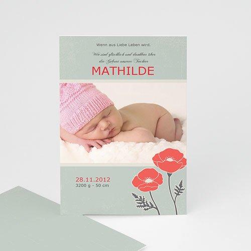 Geburtskarten für Mädchen - Mohnblümchen 659