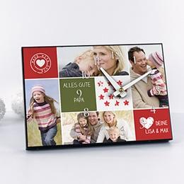 Fotouhr  20 x 14 cm - Collage zum Valentinstag - 1