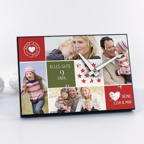 Fotouhr  20 x 14 cm - Fotouhr Collage zum Valentinstag 6631