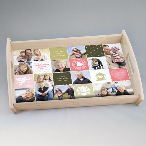 Foto-Tablett  - Fototablett Collage zum Valentinstag 6733