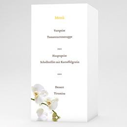 Menükarten Hochzeit  - Hochzeitskarte Orchidee - 1