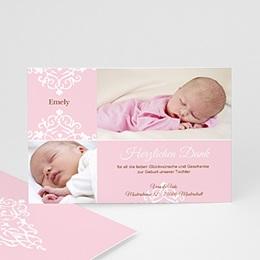 Dankeskarten Geburt Mädchen - Geburtskarte Linnea - 1