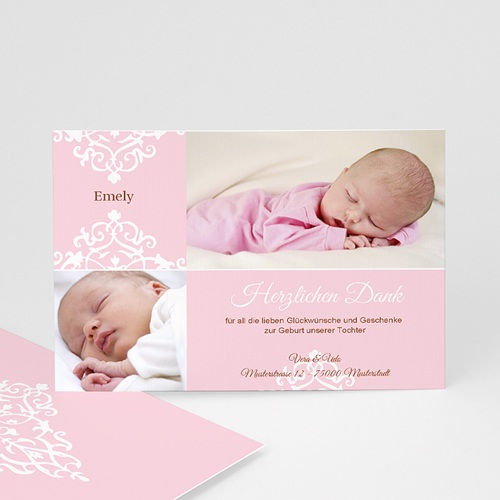Dankeskarten Geburt Mädchen - Linnea 679