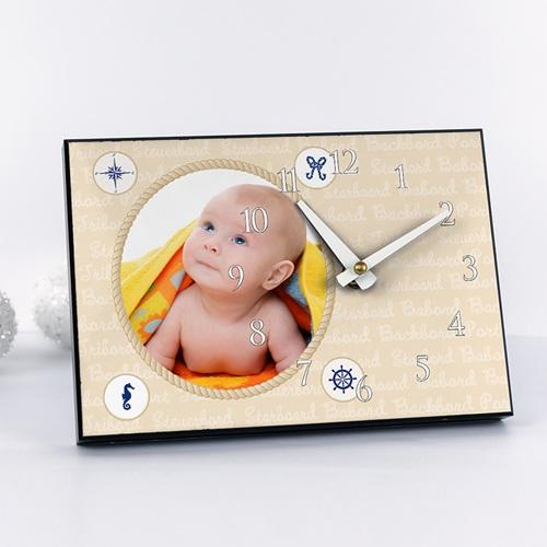 Fotouhr  20 x 14 cm - Kleiner Matrose 6815
