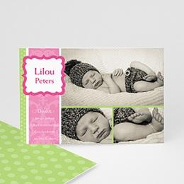 Dankeskarten Geburt Mädchen - Babykarte Martha - 1