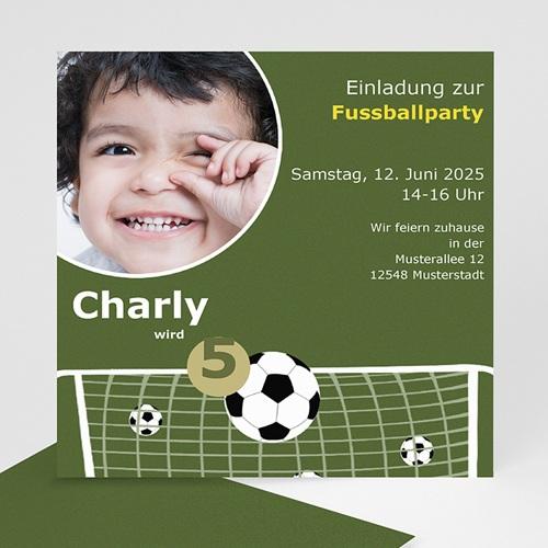 Geburtstagseinladungen Jungen - Geburtstagseinladung Fussballparty 7171