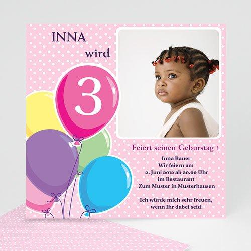 Geburtstagseinladungen Jungen - Kindergeburtstagseinladung luftballon 7175
