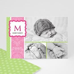 Geburtskarten für Mädchen - Babykarte Martha - 1