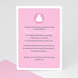 Einladungskarten Taufe Mädchen - Taufe Einladungskarte kreuz - 1