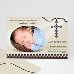 Einladungskarten Taufe Jungen  - Taufe Einladungskarte hell - 1