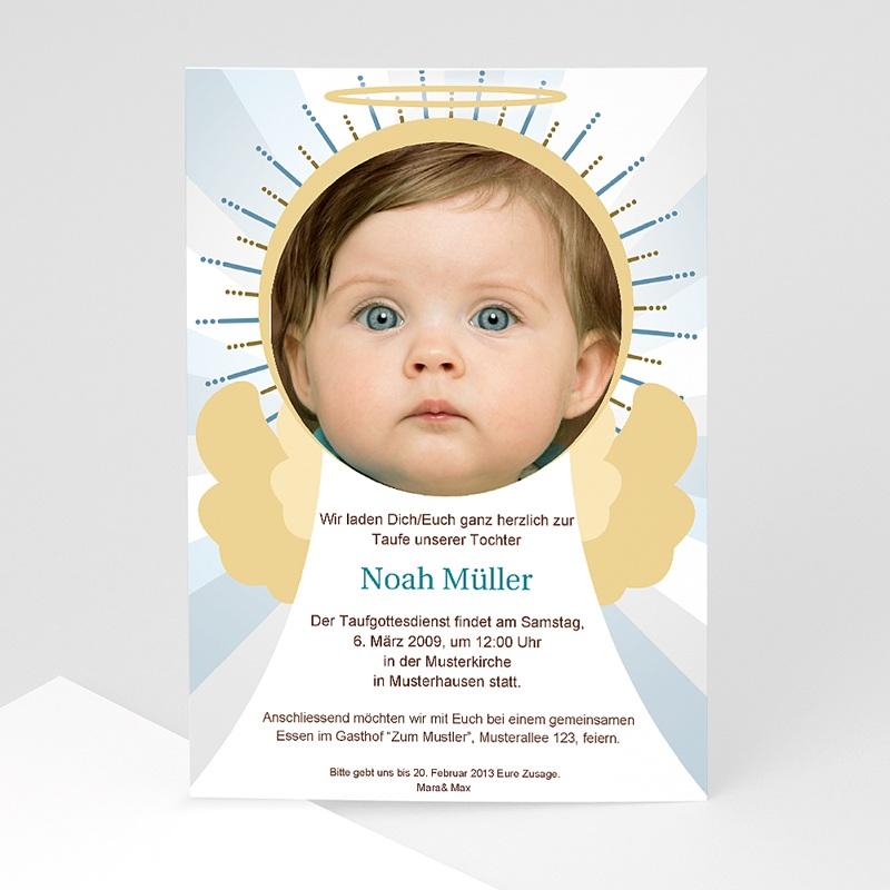 Einladungskarten Taufe Jungen - Kleiner Engel  Carteland.de