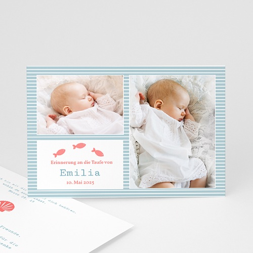 Dankeskarten Taufe Jungen - Danksagung Louise 727