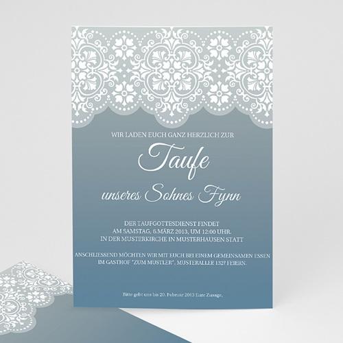 Einladungskarten Taufe Jungen  - Taufkarte blau 7275