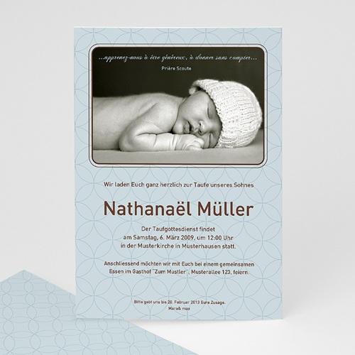 Einladungskarten Taufe Jungen  - Klassisch elegant  7283